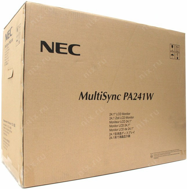 0 монитор nec tft 24 pa241w-bk black (wide, p- ips, 2xdvi-d, d-sub, 1xdisplay port, tco 50)
