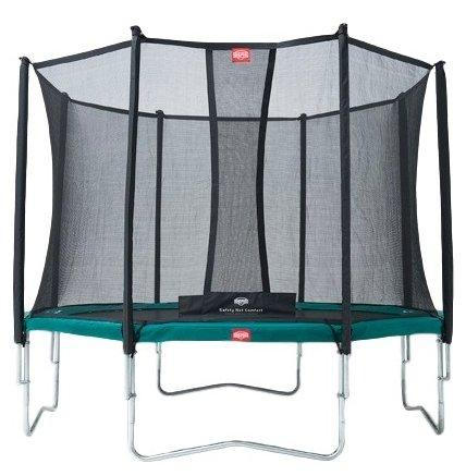 Батут  Berg Favorit 270 + Safety  Net Comfort 270 зеленый